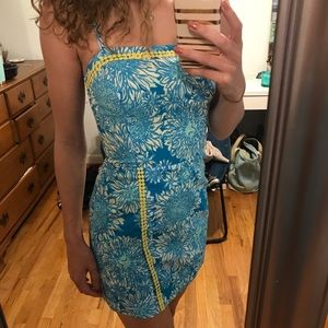 Lilly Pulitzer Blue Lion in the Sun Romper